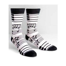 Sock It To Me Footnotes Crew Socks