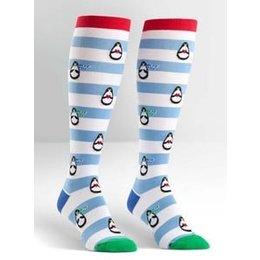 Sock It To Me Penguin Stripe Knee Socks