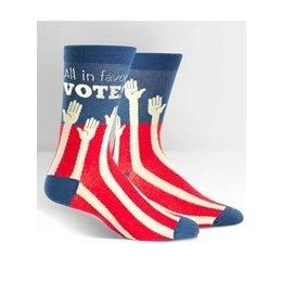 Sock It To Me Sock The Vote Crew Socks Large