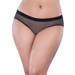 Oh La La Cheri Backless Fishnet Hipster Panty 6294, Black