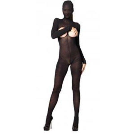 Leg Avenue Hooded Opaque Cupless Bodystocking KI4011