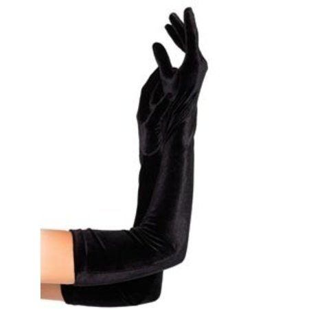 Leg Avenue Velvet Opera Length Gloves 2052