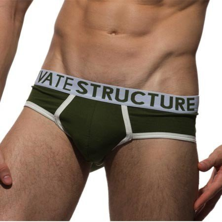 PS Packing PS Packing Briefs, Army Green