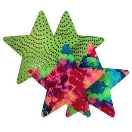 Bristols Nippies Neon Carnival Stars Pasties