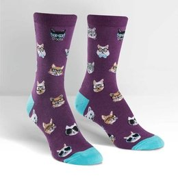 Sock It To Me Smarty Cats Crew Socks