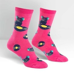 Sock It To Me Cat Scratch Crew Socks