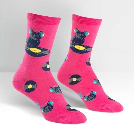 Sock It To Me Cat Scratch Crew Socks