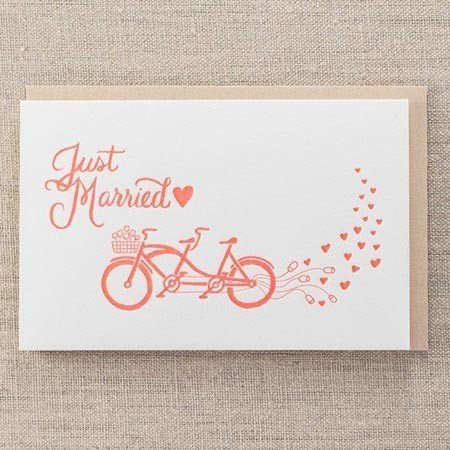 Pike Street Press Just Married Greeting Card