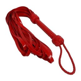 Kookie Latex Loop Flogger, Red