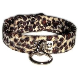 Kookie Velvet O-Ring Collar, Leopard