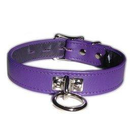 Kookie Locking Buckle Collar with O-Ring, Purple