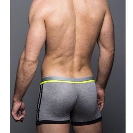 Andrew Christian Andrew Christian 90133 CoolFlex Tagless Sports Boxer, Gray