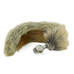 Crystal Delights Crystal Minx Faux Fur Tail Plug, Red Fox