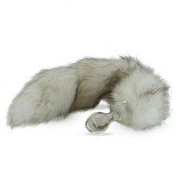 Crystal Delights Crystal Minx Faux Fur Tail Plug, Siberian Husky