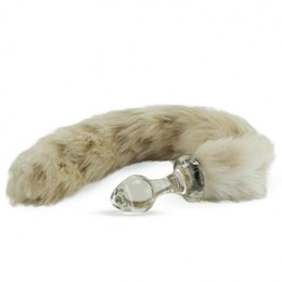 Crystal Delights Crystal Minx Faux Fur Tail Plug, Snow Leopard
