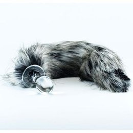Crystal Delights Crystal Minx Faux Fur Tail Plug, Tundra Wolf
