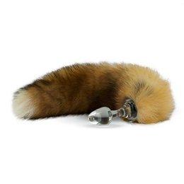 Crystal Delights Crystal Minx Fur Tail Plug, Canadian Red Fox