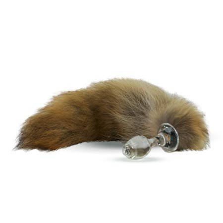 Crystal Delights Crystal Minx Fur Tail Plug, Coyote