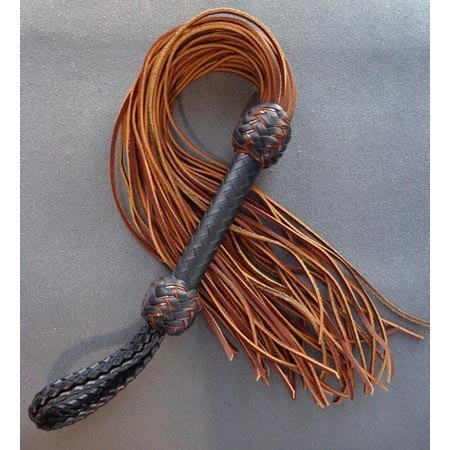 Whispers of Fire Whispers of Fire 611217 Rawhide Lace Flogger