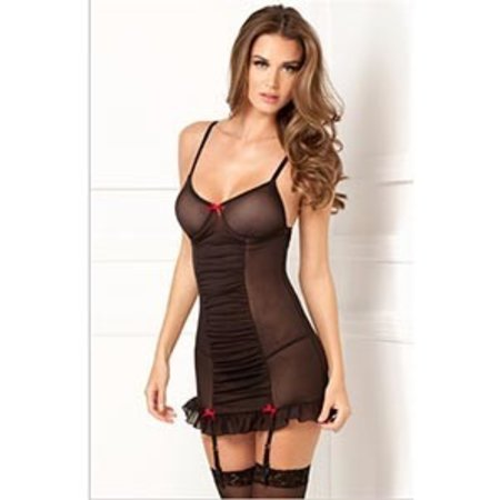 Rene Rofe 2 piece Ruched Up Garter Chemise 512065