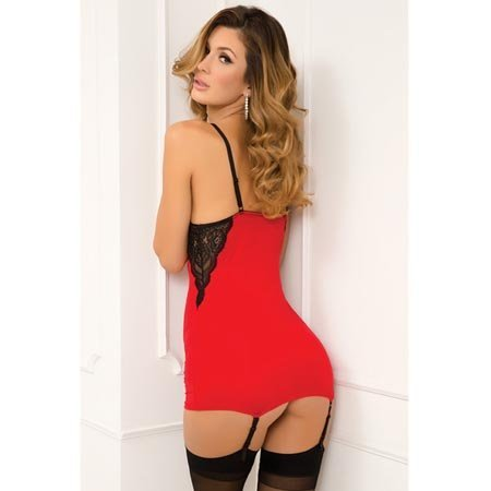 Rene Rofe A-List Chemise Set 512121, Red