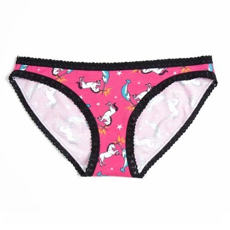 Sock It To Me Unicorn vs. Narwhal Underwear, Bikini