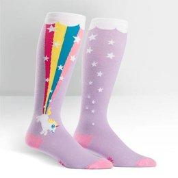 Sock It To Me Stretch It Rainbow Blast Wide-Calf Knee Socks