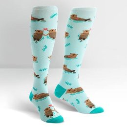 Sock It To Me My Otter Half Knee Socks