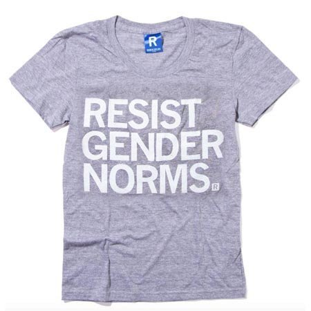 Raygun Resist Gender Norms T-Shirt Fitted Hourglass Cut
