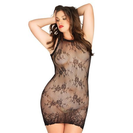 Leg Avenue Floral Stretch Lace Mini Dress 87043Q