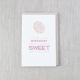 Pike Street Press Birthday As Sweet As You Greeting Card