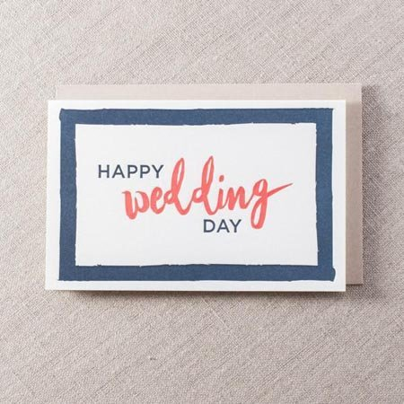 Pike Street Press Happy Wedding Day Greeting Card