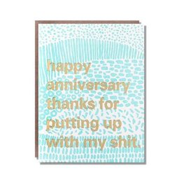 Egg Press Put Up Anniversary Greeting Card