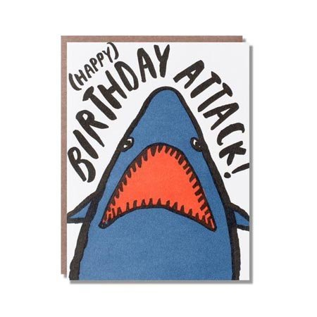 Egg Press Shark Birthday Greeting Card