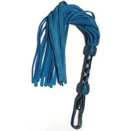 Whispers of Fire Whispers of Fire S810211 Turqouise Bullhide Flogger
