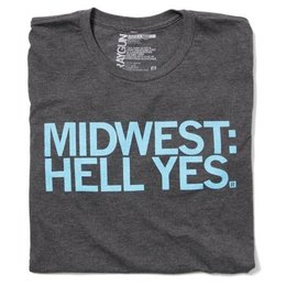 Raygun Midwest Hell Yes T-shirt Fitted Hourglass Cut