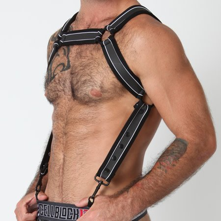 Timoteo Cell Block 13 Rogue Harness CBS083, Black/White