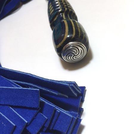 Katana Works Katana Works 93 Blue Suede Flail Flogger