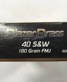 Federal 40 S&W 180 gr FMJ blazer brass