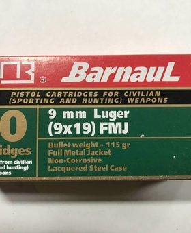 Barnaul 9mm luger 115 gr fmj