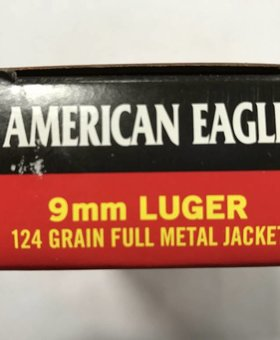 Federal 9mm luger 124 gr fmj A.E.