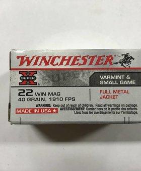 Winchester 22 wmr 40 gr fmj