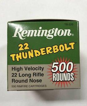 Remington 22 l.r. thunderbolt 500 ct