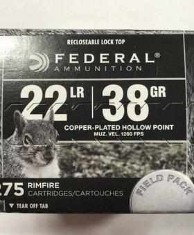 Federal 22 l.r. 38 gr hp 275 ct.