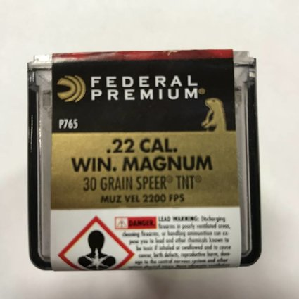 Federal 22 wmr 30 gr speer tnt