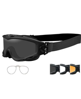Wiley X SPEAR GOGGLE GREY/CLEAR/RUST BLK FRAME
