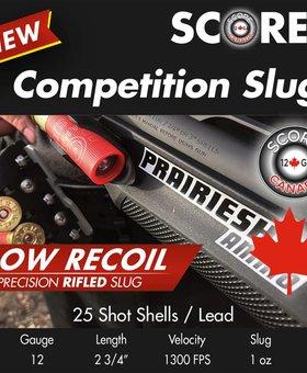 Prairie Shot 12 Ga 2/4 Low recoil 1 OZ slug  250 ct.