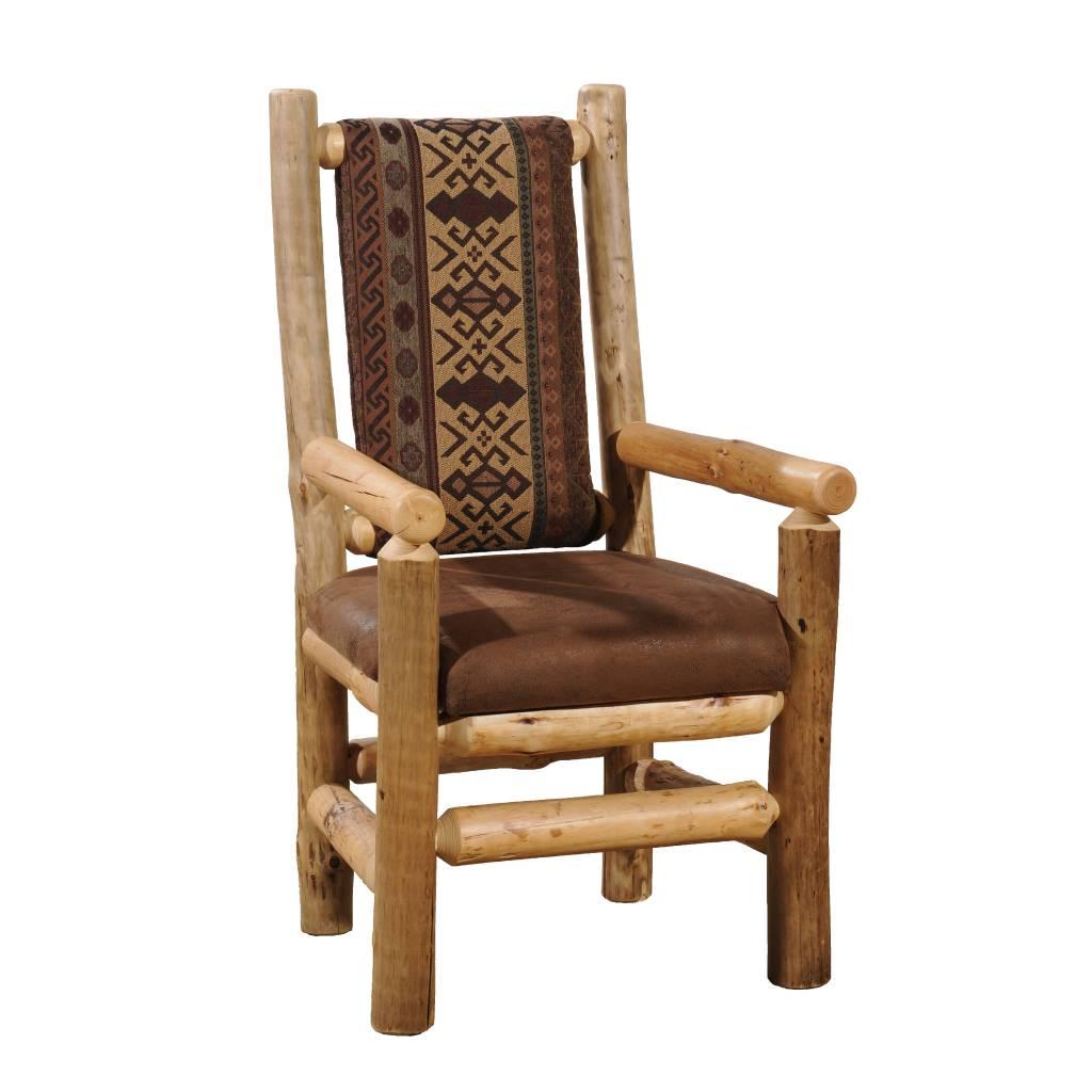 Kelly Barn Log Dining Chair W Arms