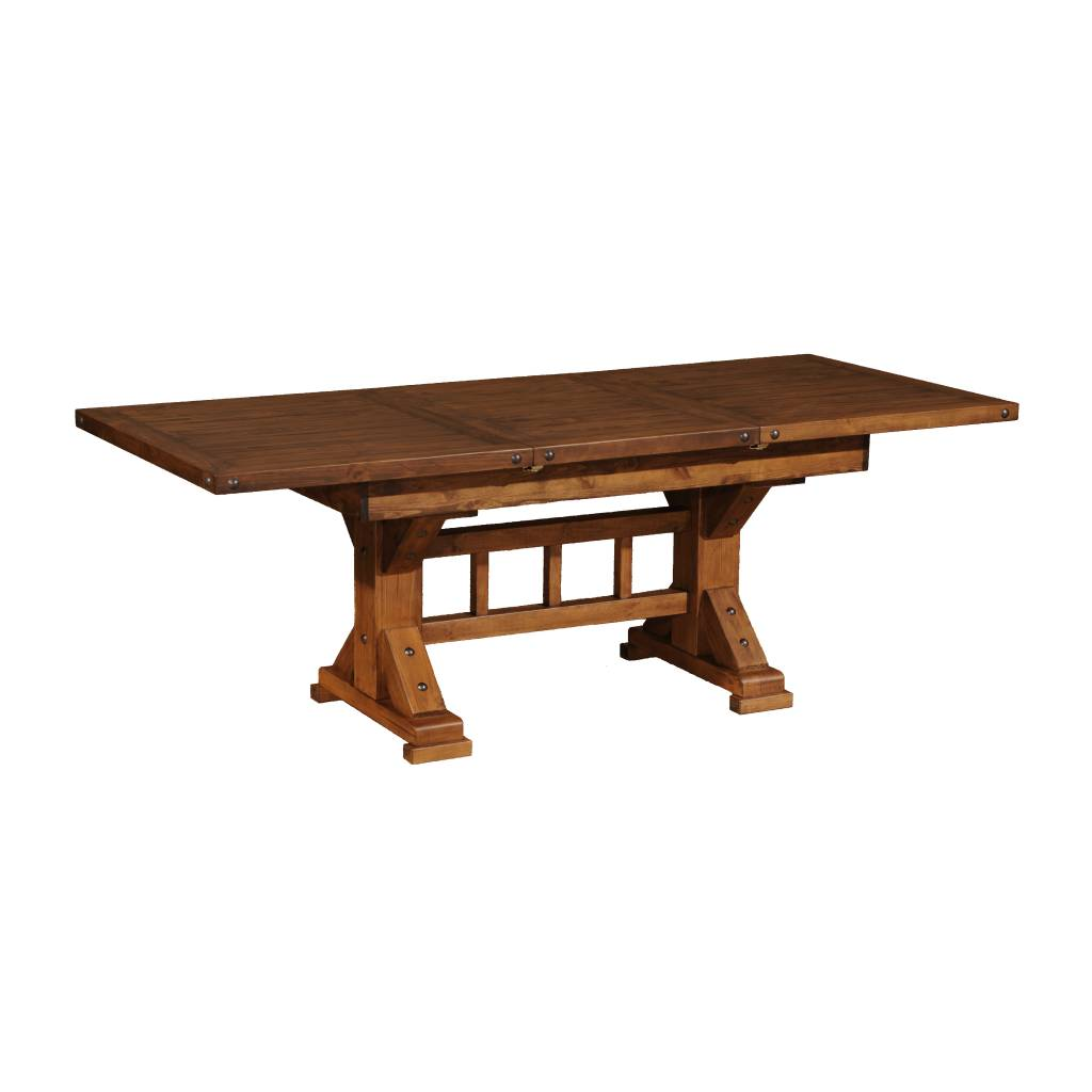 Kelly Barn Trestle Butterfly Dining Table Rustic Oak - 72 trestle dining table