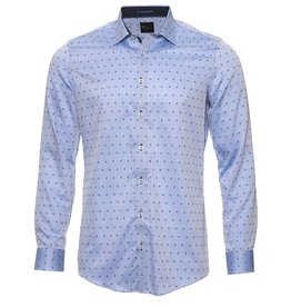 Venti Venti - Body Fit Shirt - Blue and Dots